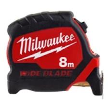 Рулетка Milwaukee Премиум с широким полотном 8м