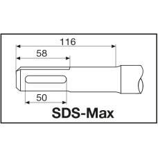 Коронка составная Milwaukee SDS-Max ТСТ по бетону 90 X 100 мм